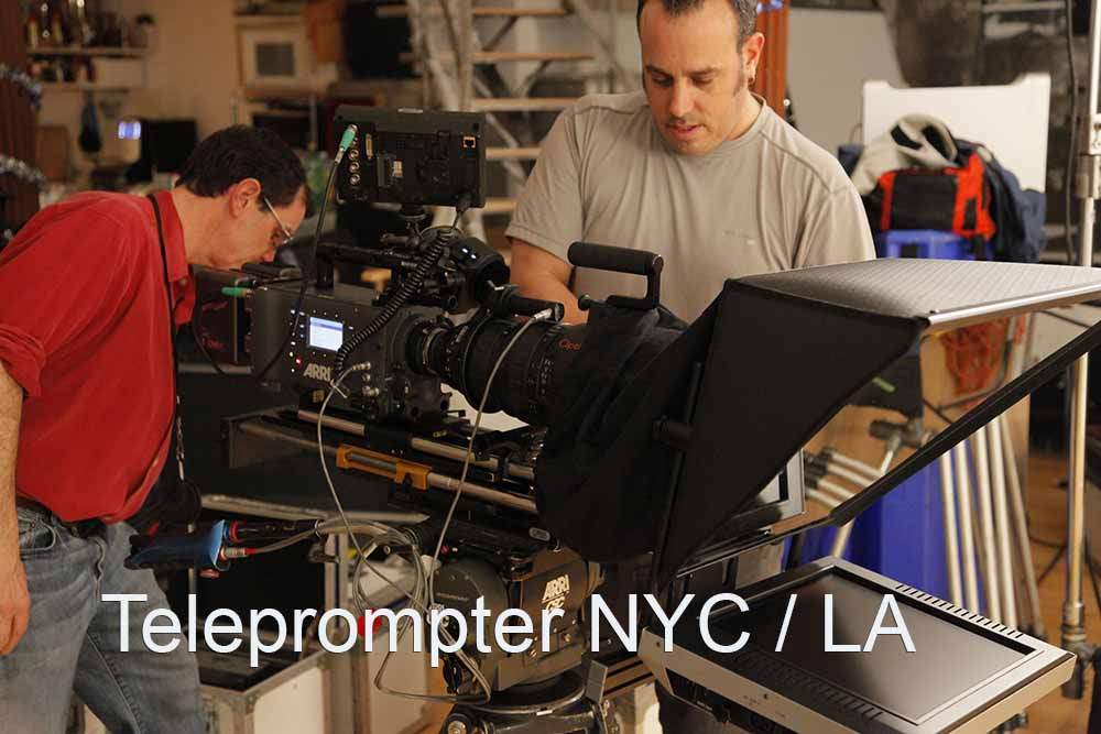 Professional Teleprompter Rental NYC / LA 1