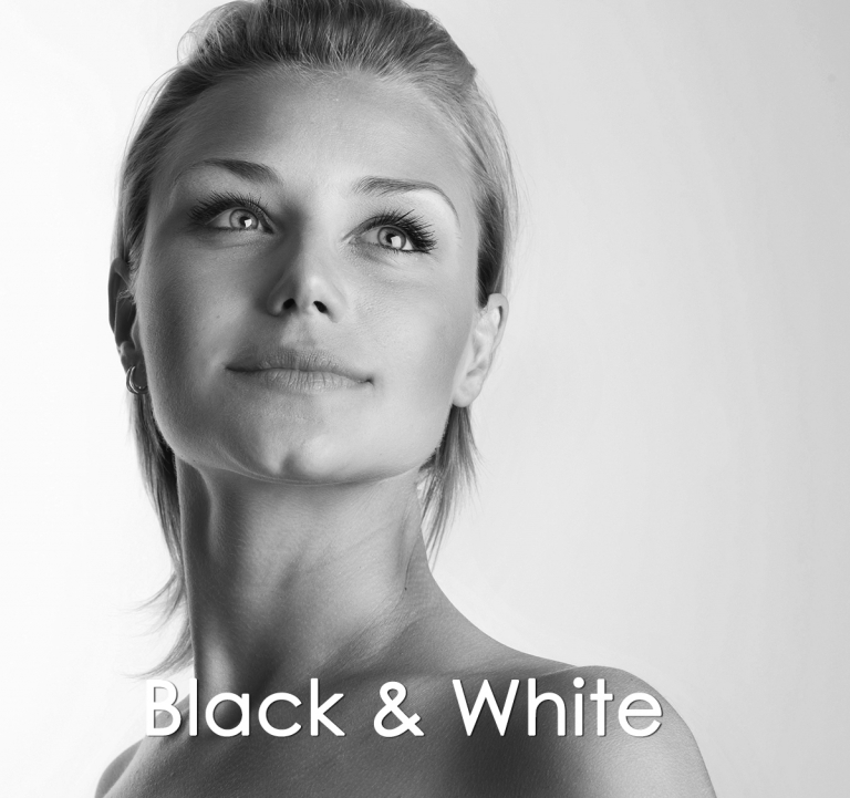 AmericanMovieCO.com Beautiful Girl Face in Black & White