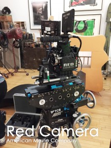 Red Camera American Movie Camera on stage at our studio.