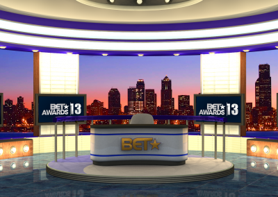 NEWS SET VIRTUAL SET CREATED BY AMC ARTIST FOR BET