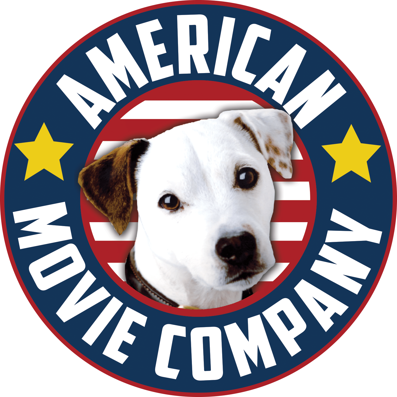 New American Movie Company logo Dog In Center