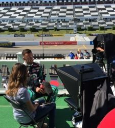 Teleprompting at NASCAR