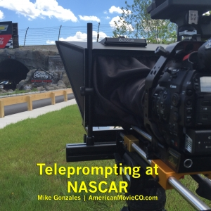 Teleprompting NASCAR American Movie Company