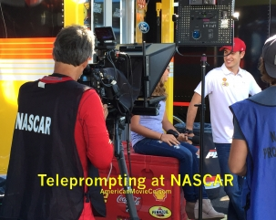 Teleprompting at NASCAR AmericanMovieCo.com