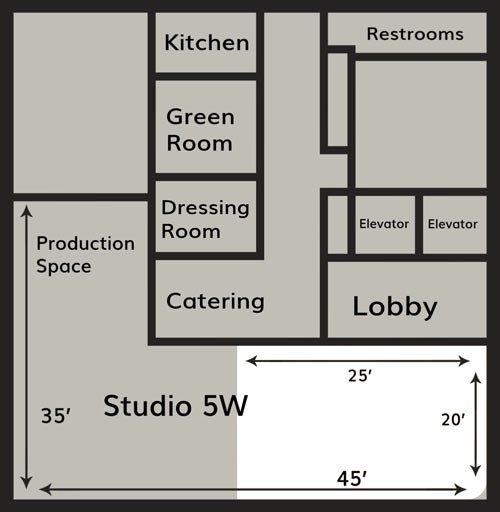 Studio 5W floor plan