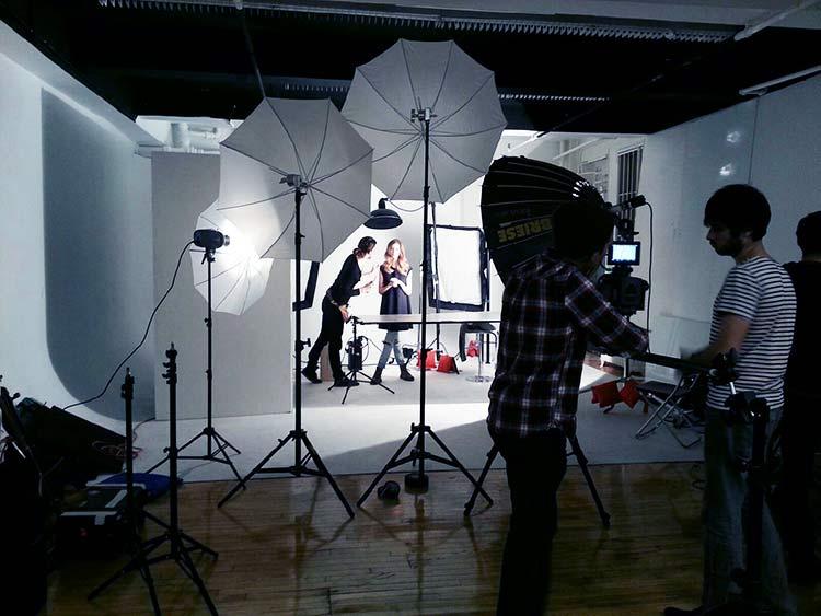 Studio - White Cyc - lights - crew
