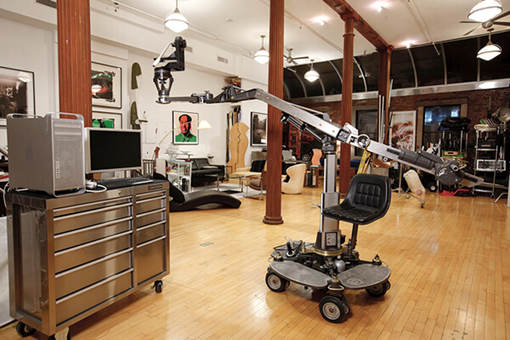 Studio interior - lots of equipment: AMC  Studio Rental green screen sound stage