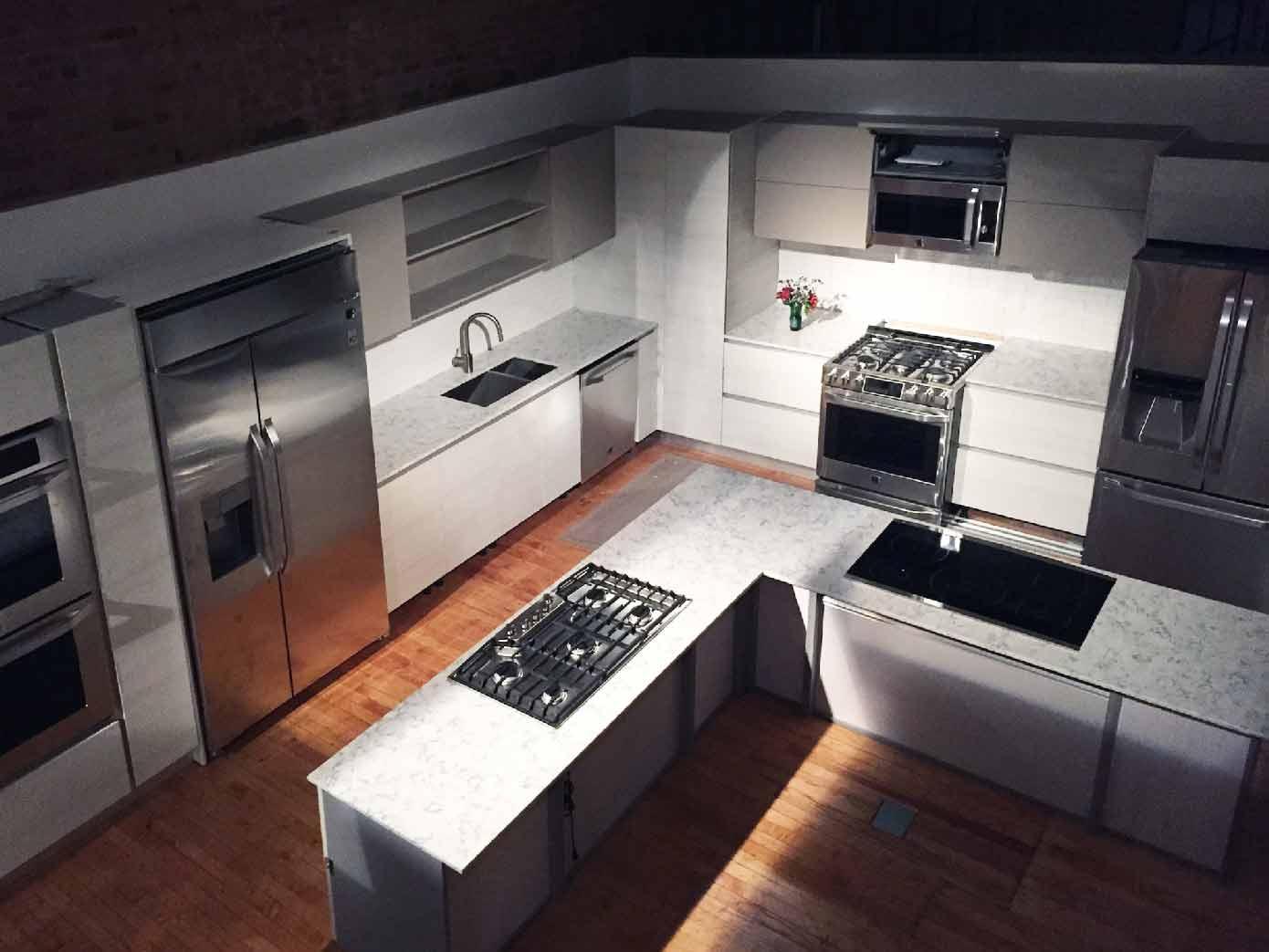 Kitchen studio event Space-Aerial-View