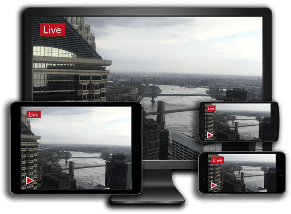 Live WebCast aerial video to any device.