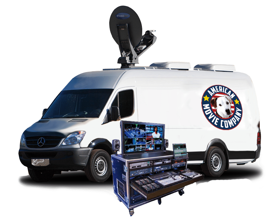 AMC sprinter van and equipment superimposed