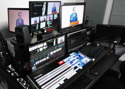 webcasting studio, live broadcasting studio, streaming studio, tricaster