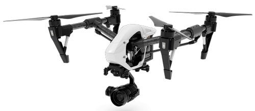 Graphic of our DJI Inspire 1 in flight!