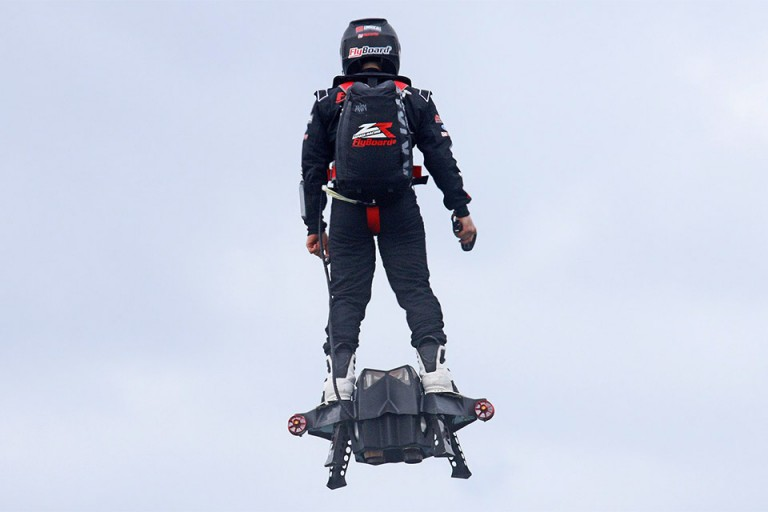 Flying Skateboard Real or Video Effects? The Amazing Flyboard Air