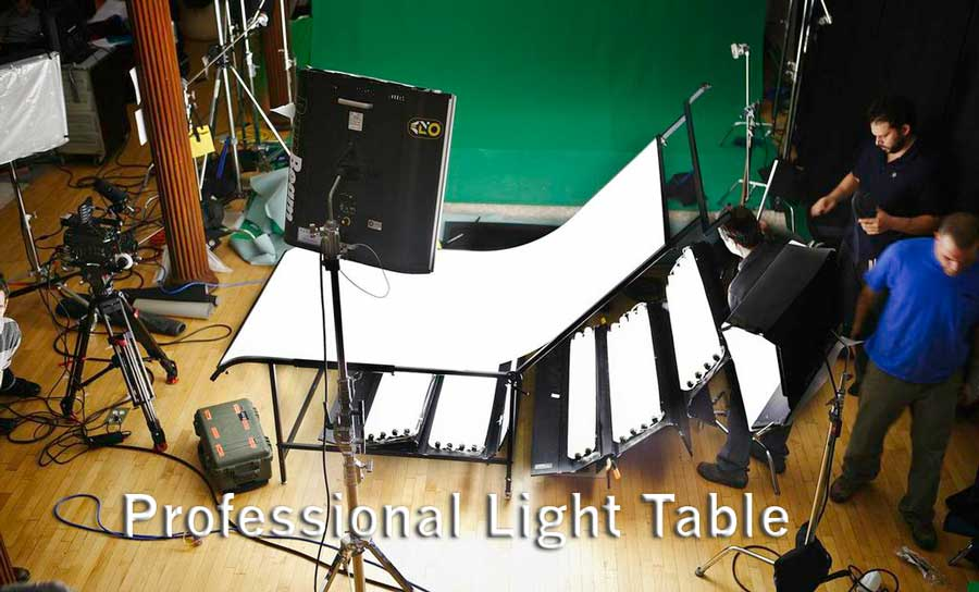 Professional Light Table for Video Production and Stills