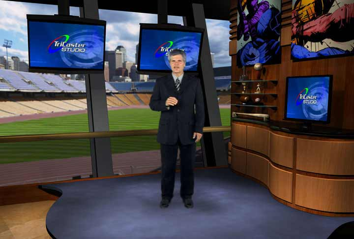 Sports Webisode with Tricaster Skybox virtual set