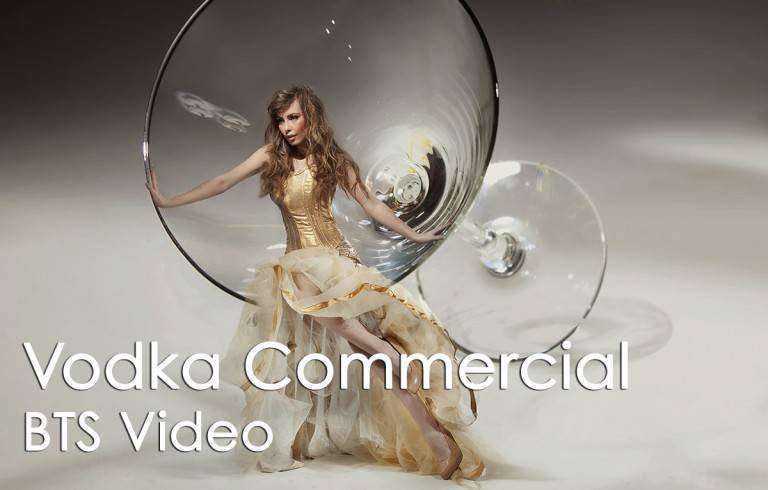 Video Production: Vodka commercial BTS video - image of woman in white