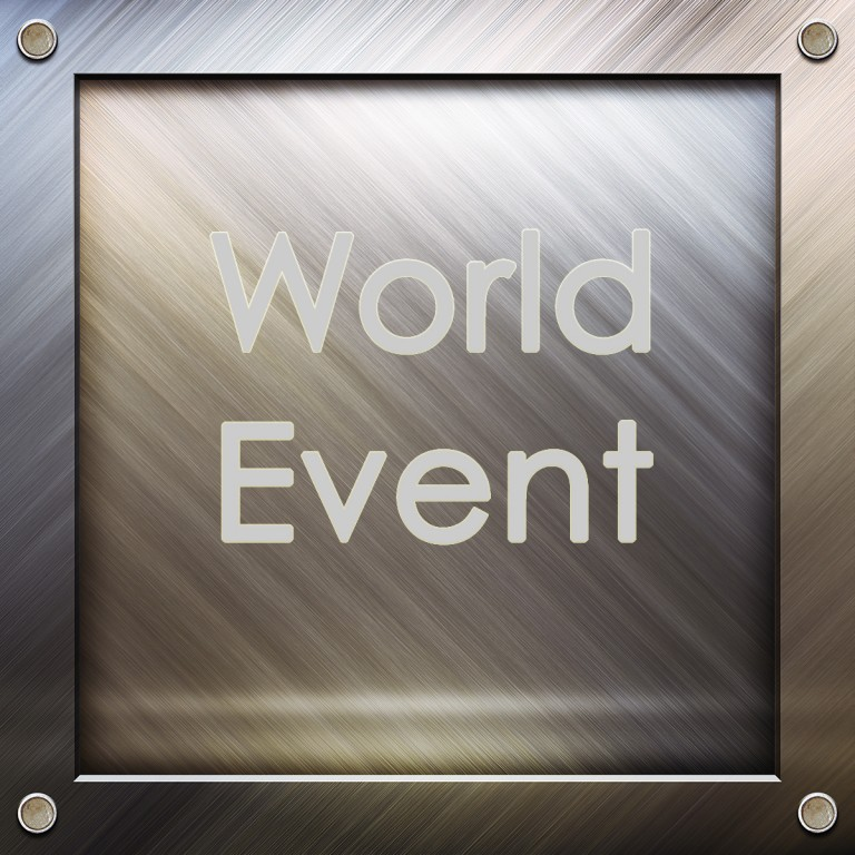Frame with words - World Event