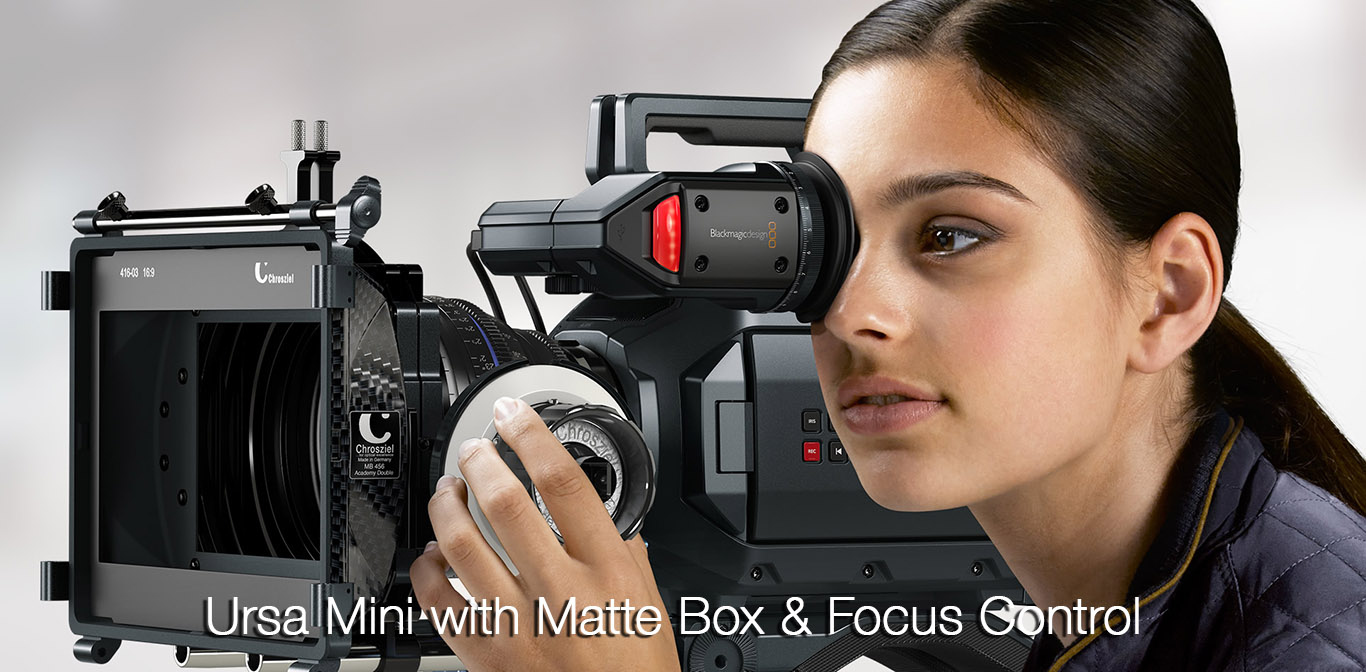 Ursa Mini with Matte box & Focus control
