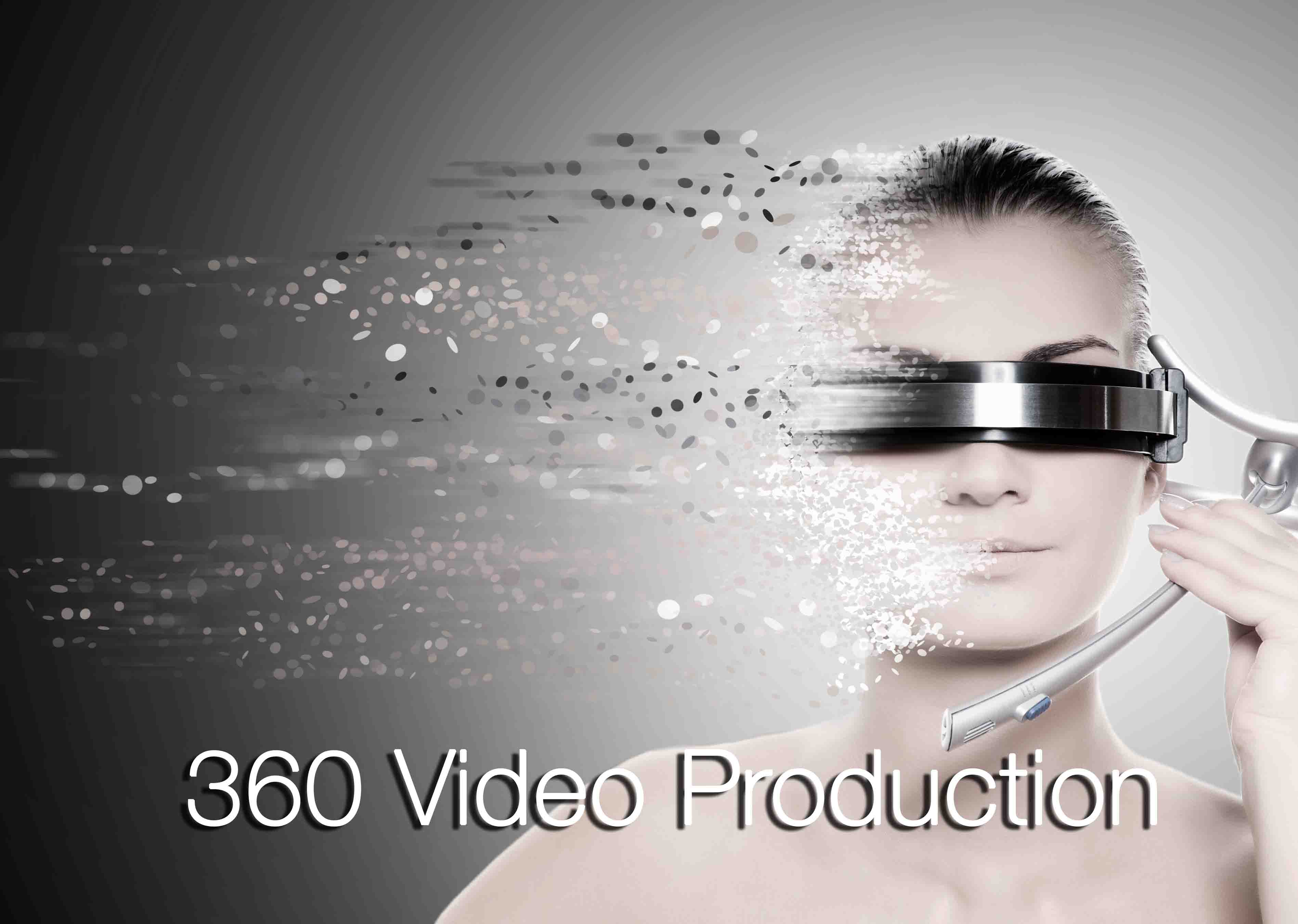 360 Video Production - beautiful model - futuristic