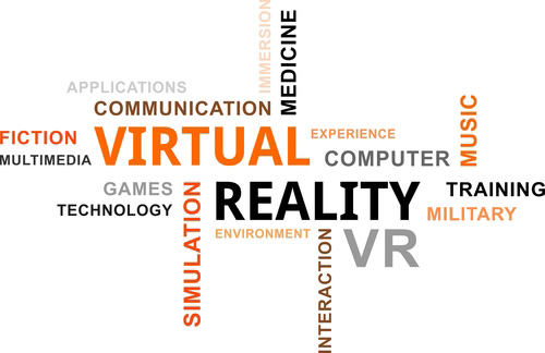 Virtual Reality and other words - graphic