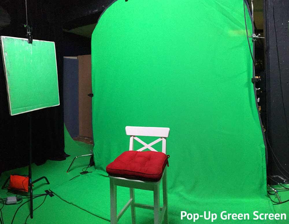 Pop-Up Green Screen