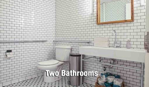 Two bathrooms - white