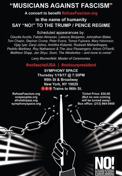 NYC WebCast: Musicians Against Fascism
