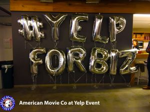 THE AMERICAN MOVIE COMPANY PROVIDES VIDEO PRODUCTION SERVICES AT YELP EVENT