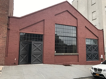 exterior of warehouse brown exterior