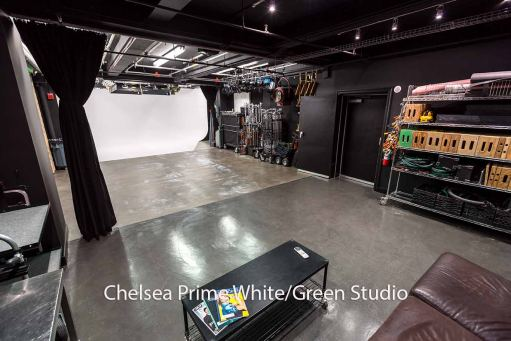 Chelsea studio can have white or green cyc - interior