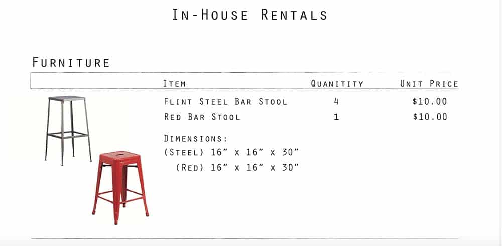 Stools - one red