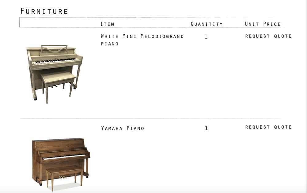 Furniture - pianos