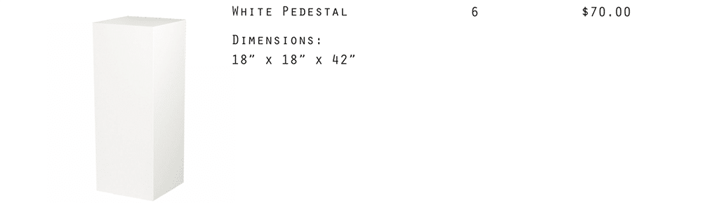 Image - White Pedestal