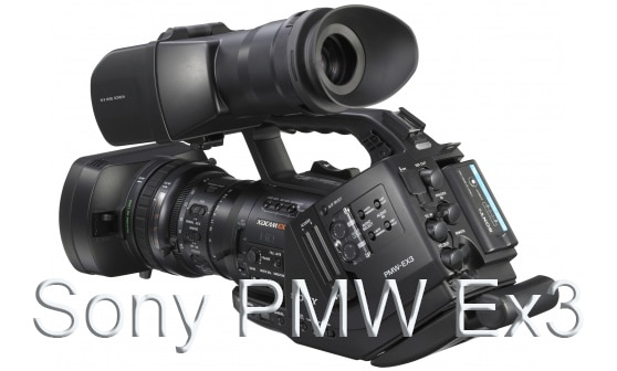 Sony pmw ex3 . on white background