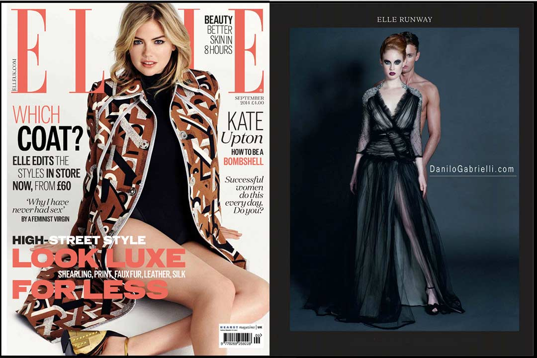 Image . elle magazine with designs by Danilo