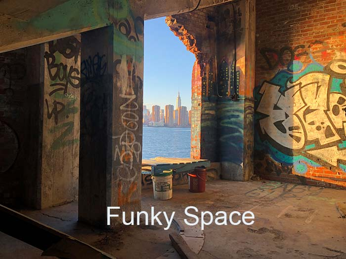 Funky Indoor Space With Graffitti - window