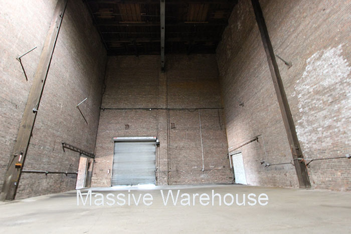 Massive Empty Grey Warehouse Brooklyn
