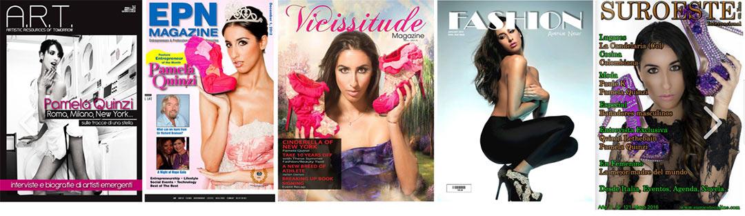 5 Fashion Magazine Covers with Pamela