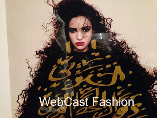 Fashion WebCast - Beautiful exotic woman in fur