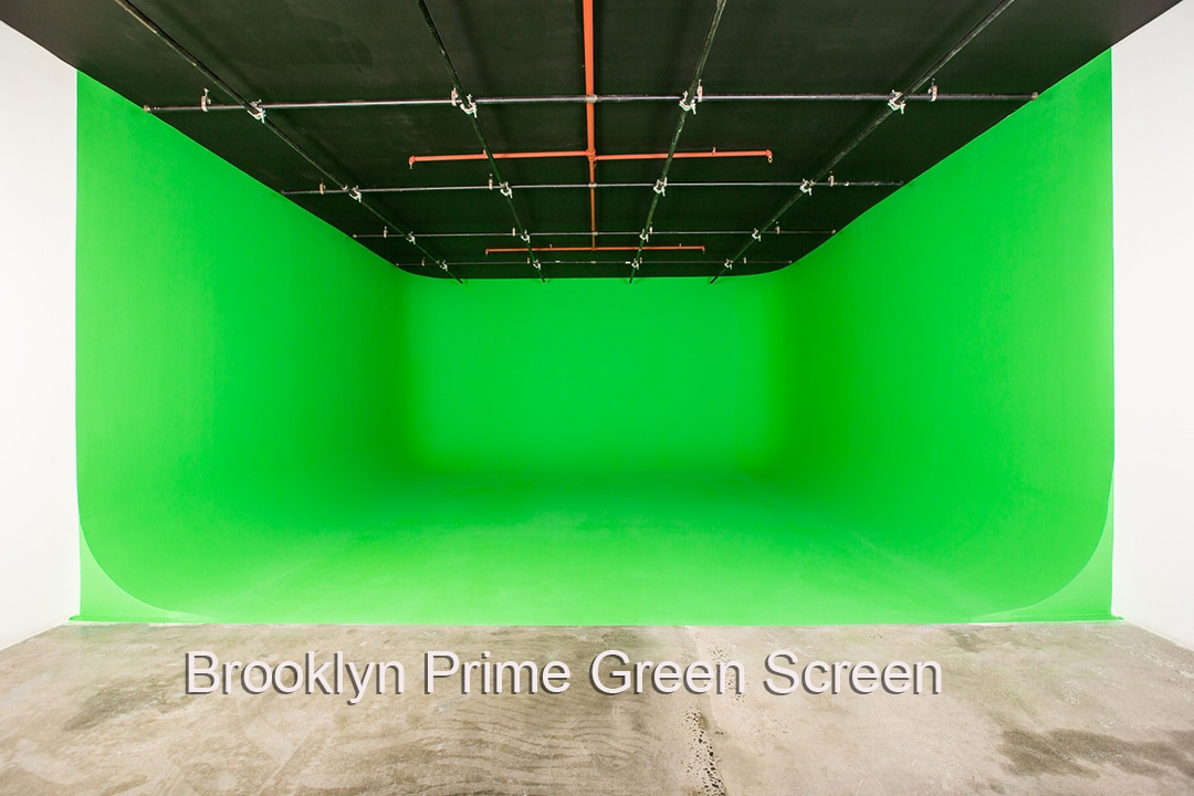 Brooklyn Prime Studio 2 . Three walled green screen studio
