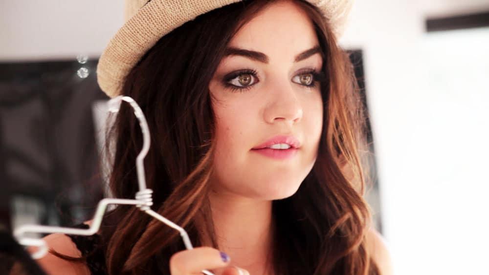 Pretty Brunette model for webcast at mall in NJ
