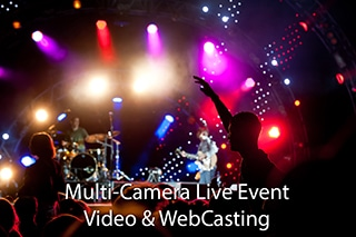 Multi Camera Live Event WebCast from crowded Webster Music Hall