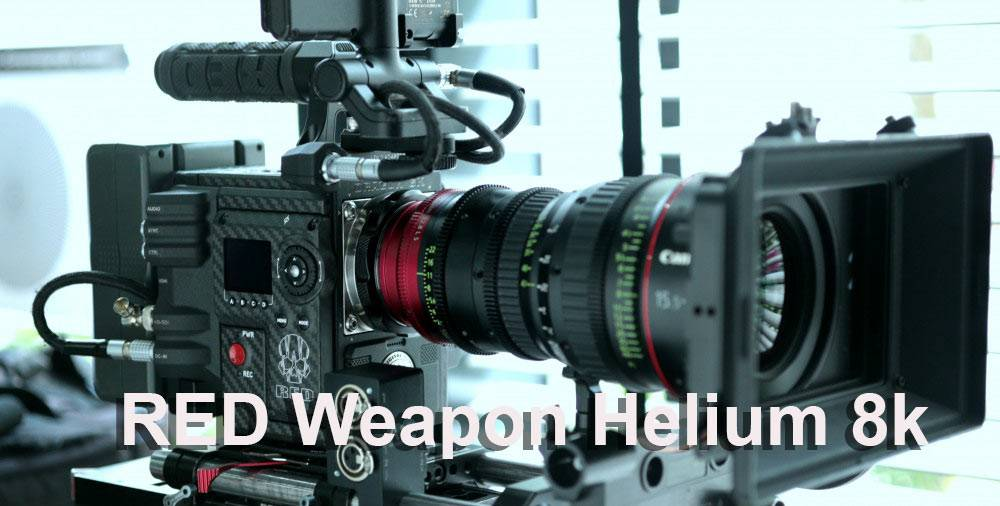 RED Weapon Helium 8k Rental camera and lens