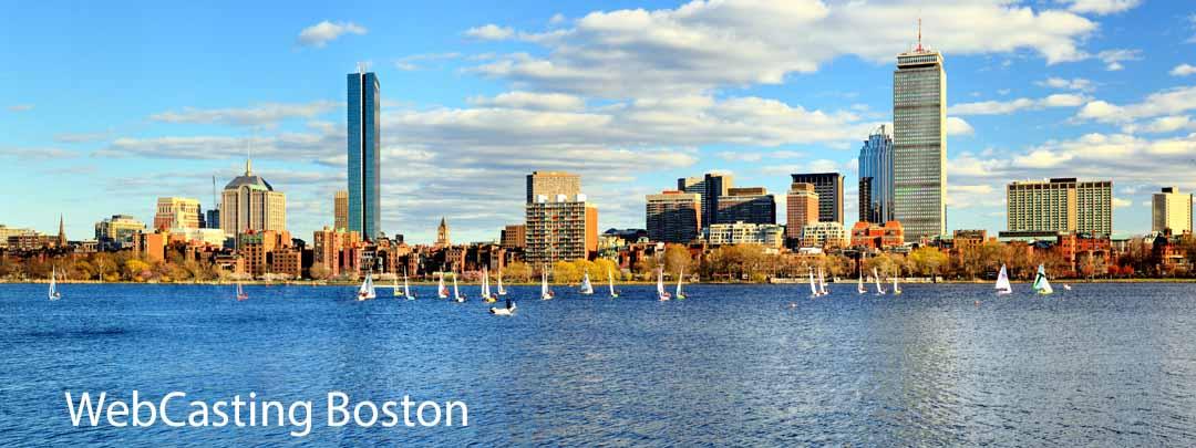 WebCasting Boston skyline