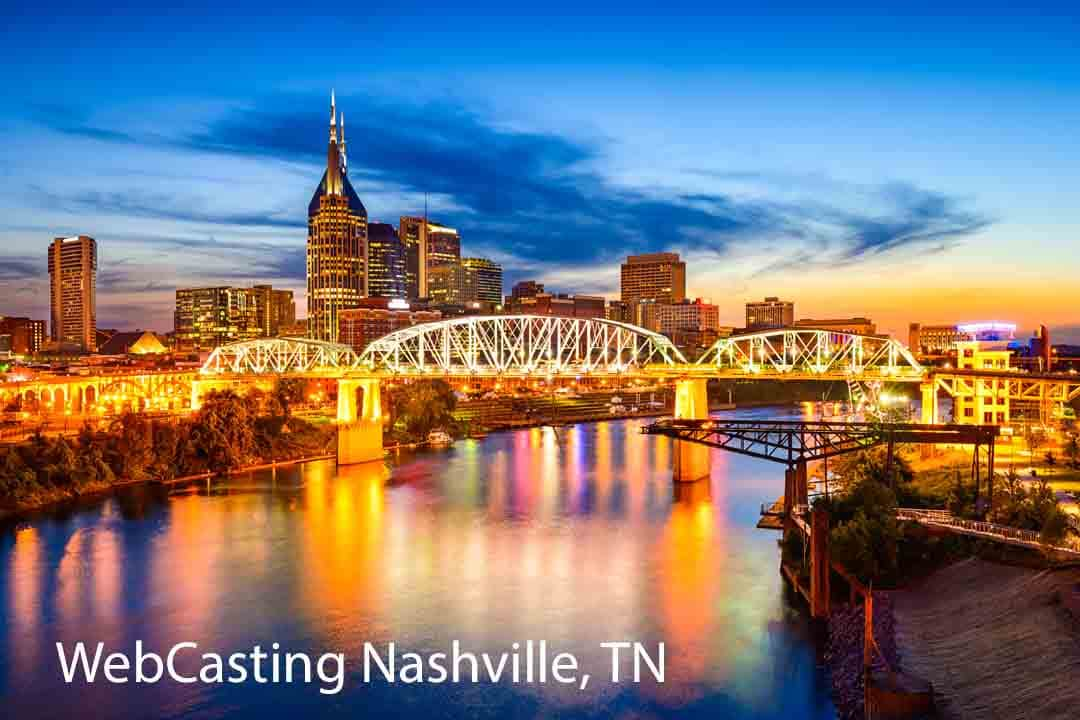 WebCasting Nashville skyline