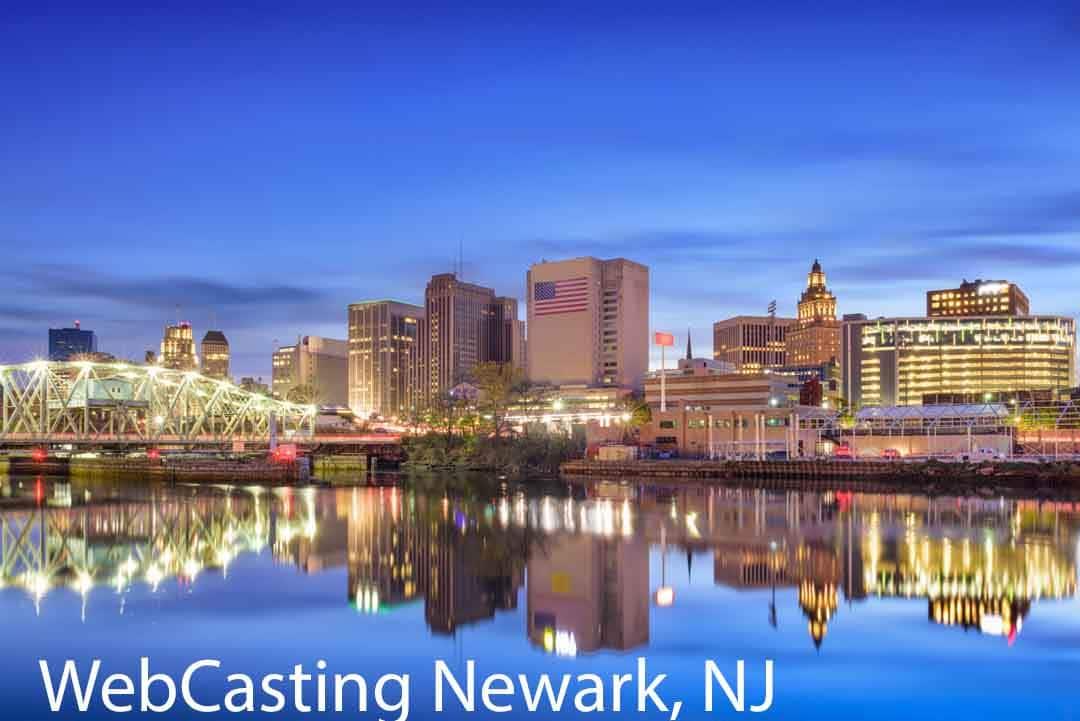 WebCasting Newark, NJ skyline