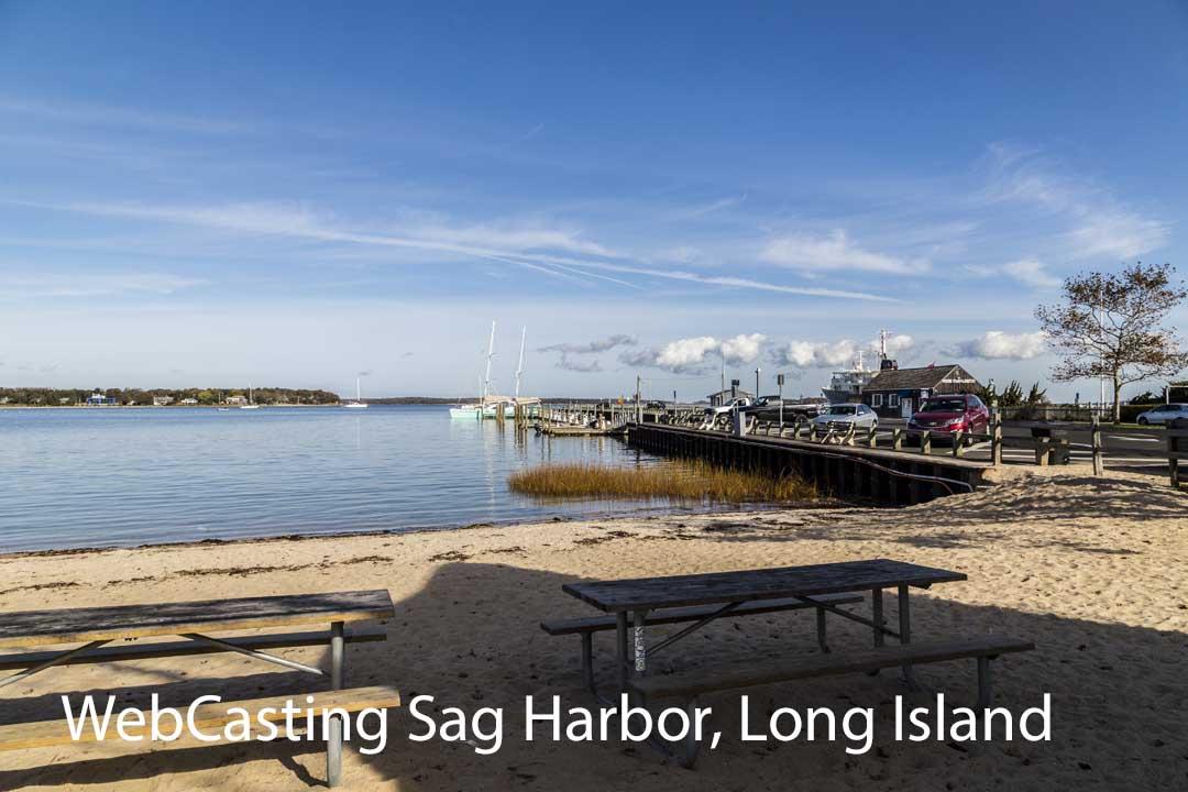 WebCasting Sag Harbor Long Island skyline