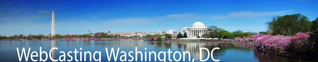 WebCasting Washington, DC skyline