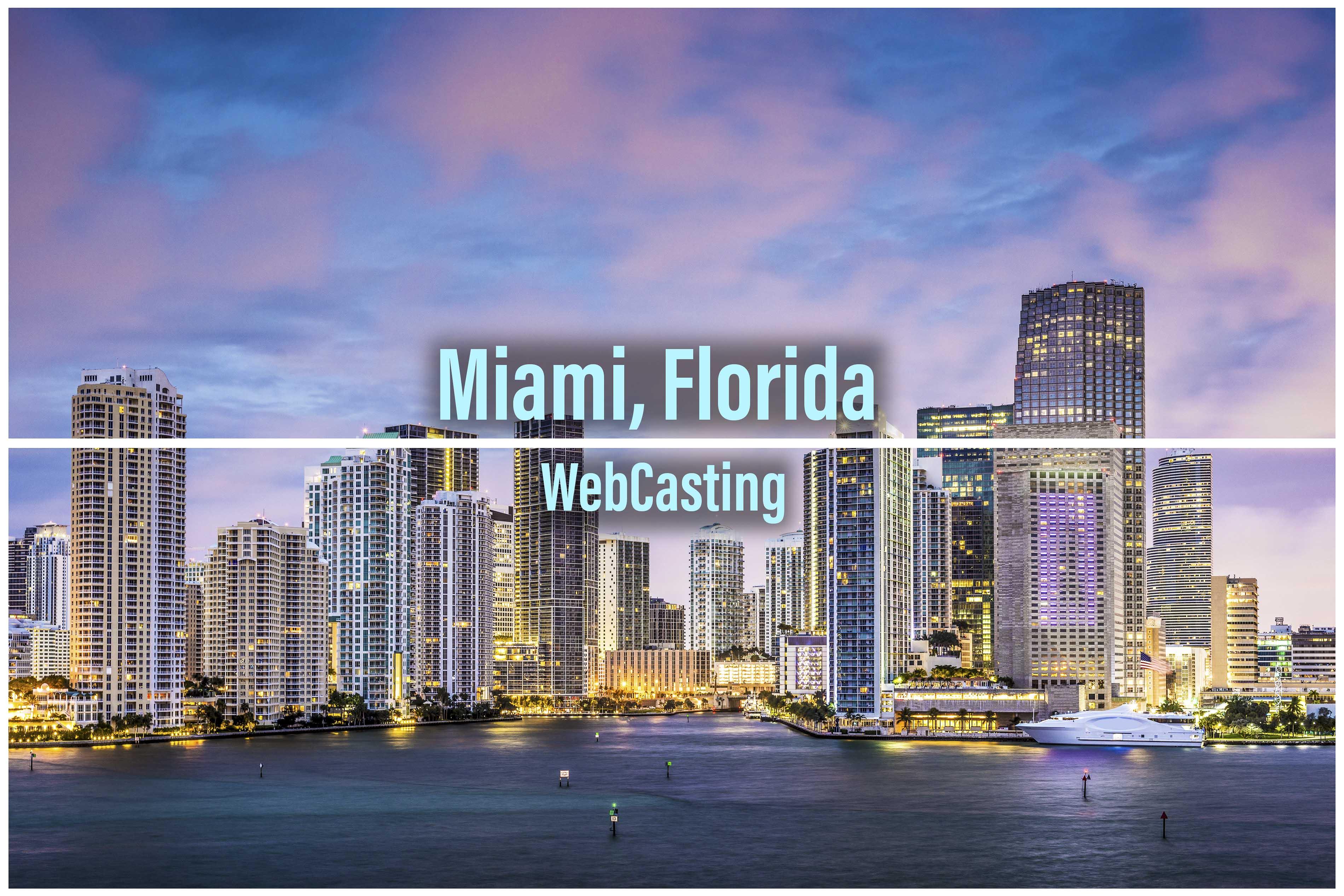 WebCasting Miami - skyline