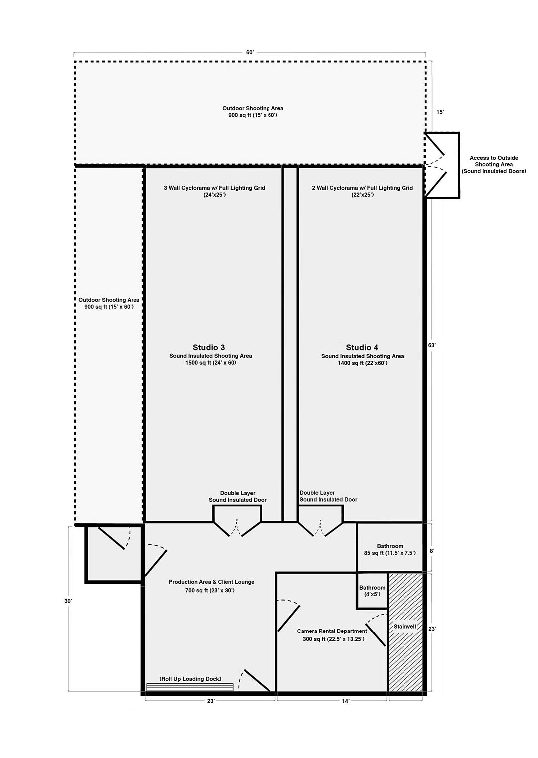 Brooklyn Prime Soundstage Floor Plan